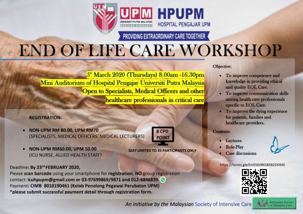 END OF LIFE CARE WORKSHOP